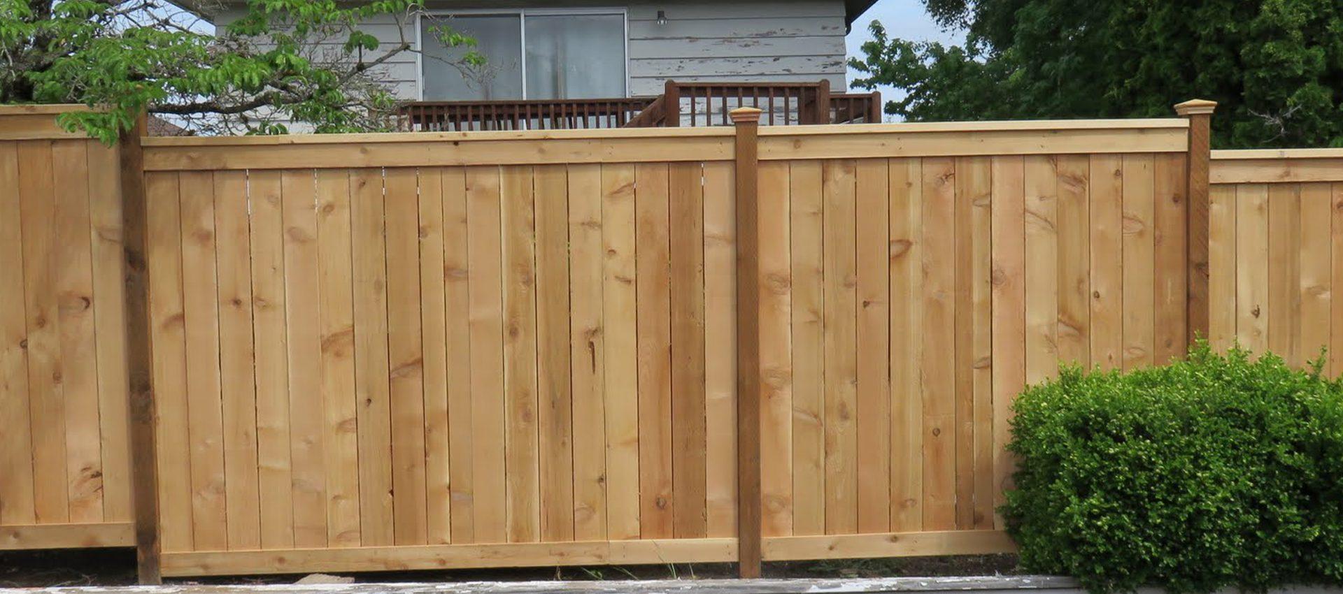 Cedar Picture Frame Fence